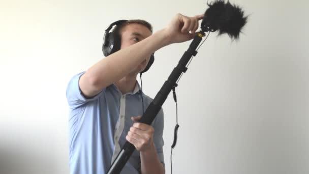 zvukař záznamy zvuku (mikrofon)