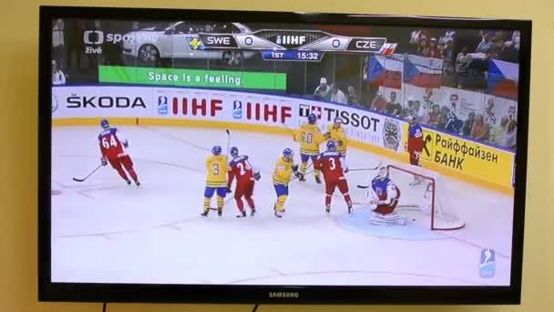 Ice hockey on television - goal (World Championship)