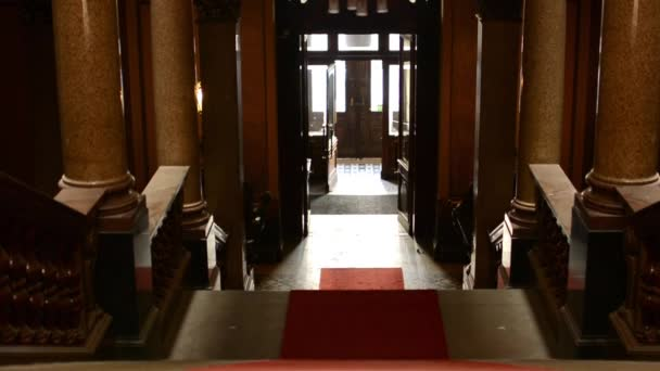 Staircase with red carpet - entrance (light) - historic interior