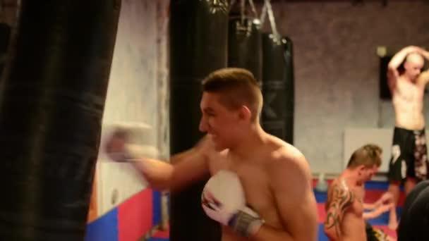 férfi sport - harci sport (ökölvívás a táska) - a tornaterem