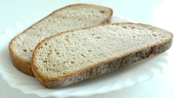 Two slices of bread on a plate