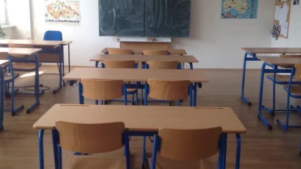 iskolai osztály - üres, tábla