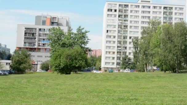 Panorama of housing estate (development) with nature