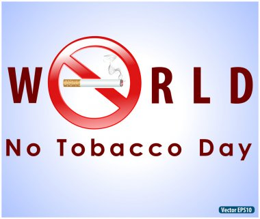 No tobacco day poster, no smoking, banner or flyer design with no smoking cigarette background- vector illustration eps 10