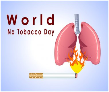 No tobacco day poster, no smoking, banner or flyer design
