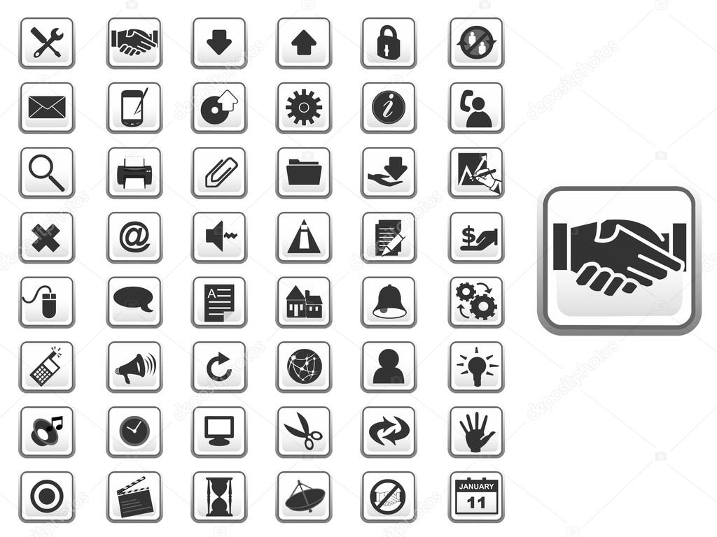 gui icon set for web and apps  u2014 stock vector  u00a9 atulvermabhai  48250441