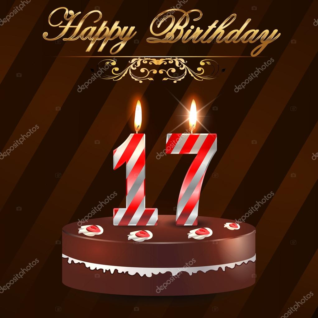 Awesome 17 Birthday Candles Stock Images Royalty Free 17Th Birthday Personalised Birthday Cards Paralily Jamesorg