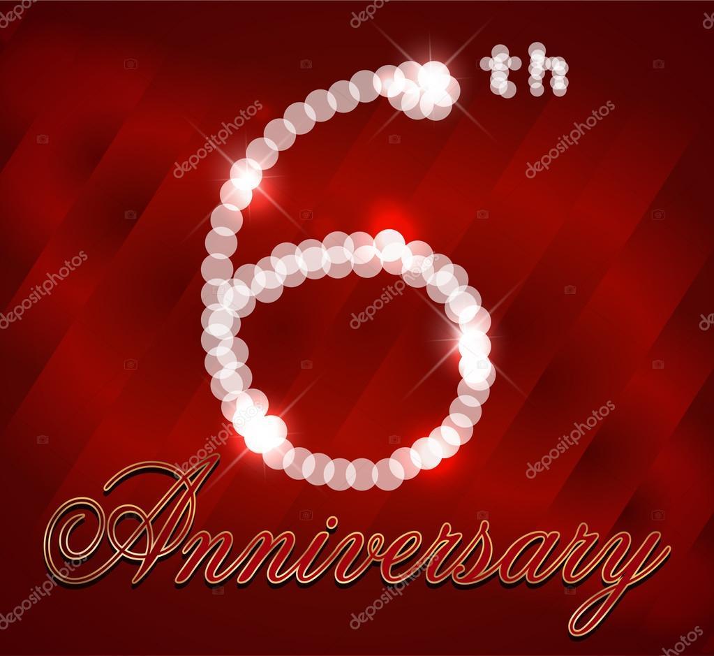 6 Jahre alles Gute zum Geburtstagskarte, 6. Geburtstag - Vektor ...