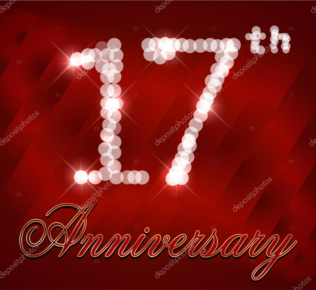 přání k 17 narozeninám 17 let vše nejlepší k narozeninám karta, 17 narozeniny   vektor  přání k 17 narozeninám