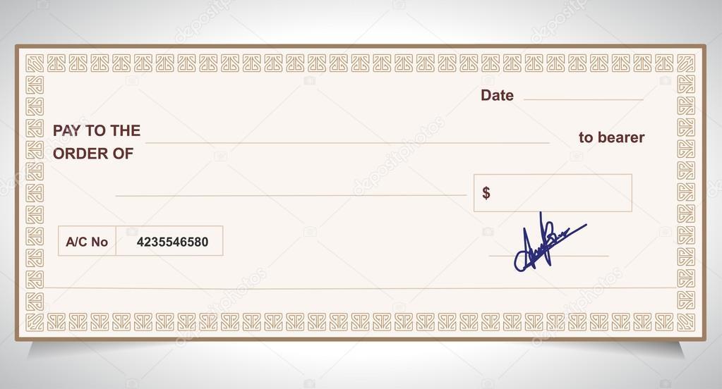 Bankscheck, Bankscheck - vector eps10 — Stockvektor © atulvermabhai ...