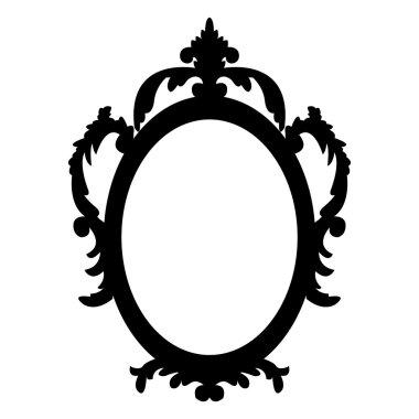 Vintage vector oval frame