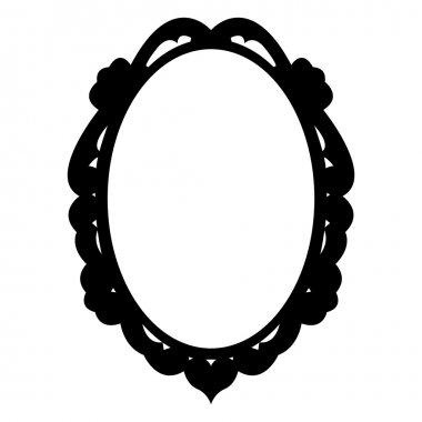 """Картина, постер, плакат, фотообои """"винтажная рама овального вектора зеркало раме зеркала настенное круглые настенные декоративные"""", артикул 45538999"""