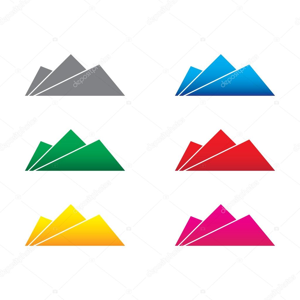 Mountain abstract icon