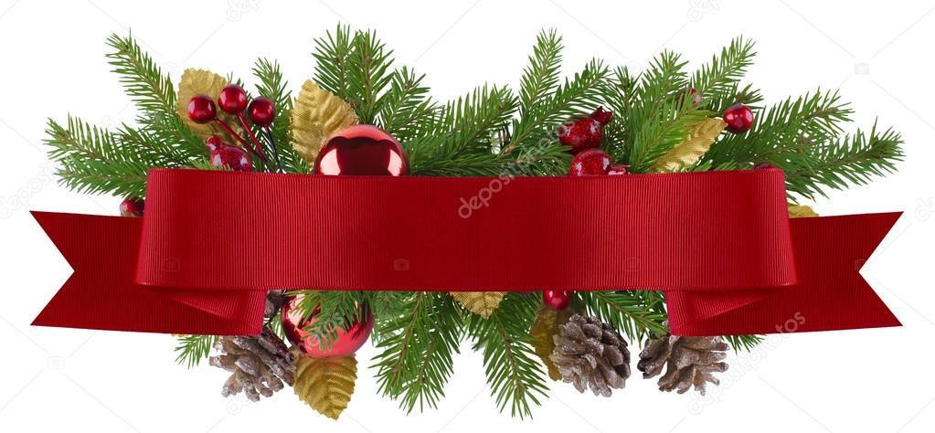 l ment de d coration de no l avec le ruban rouge droit photographie kovaleva ka 51652501. Black Bedroom Furniture Sets. Home Design Ideas