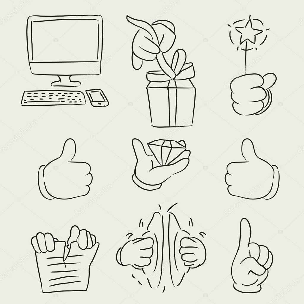 sketch hand gestures