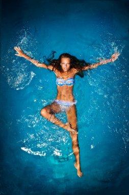 Swimming girl.