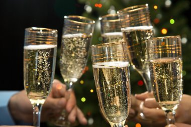 People hands with champagne