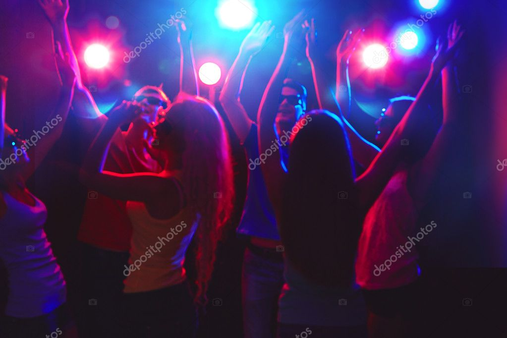 Young people at party
