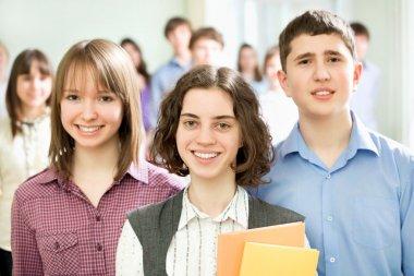Schoolboys and schoolgirls