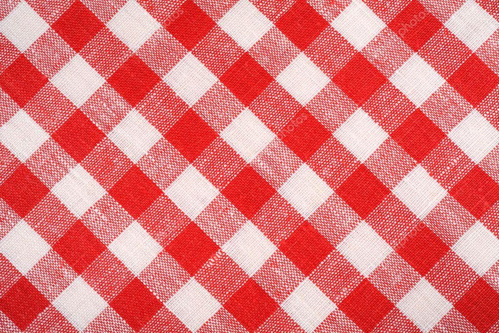 Rot Weiß Karierten Stoff Bettwäsche Rot Kariert Hintergrund Und