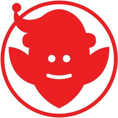 Red Christmas elf avatar