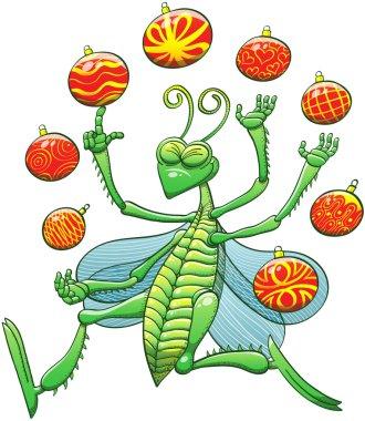 Christmas grasshopper