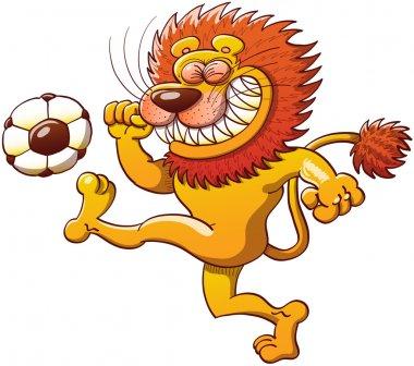 Lion with a big orange mane