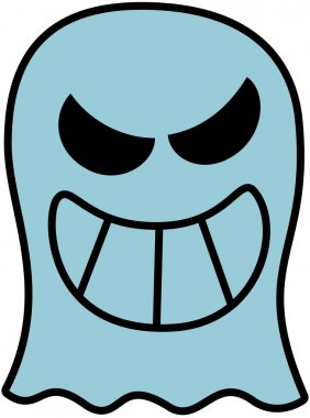 Disturbing blue ghost