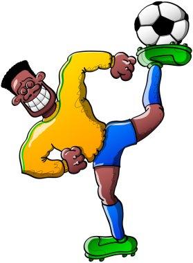 Black soccer player