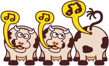 Cows sing and fart