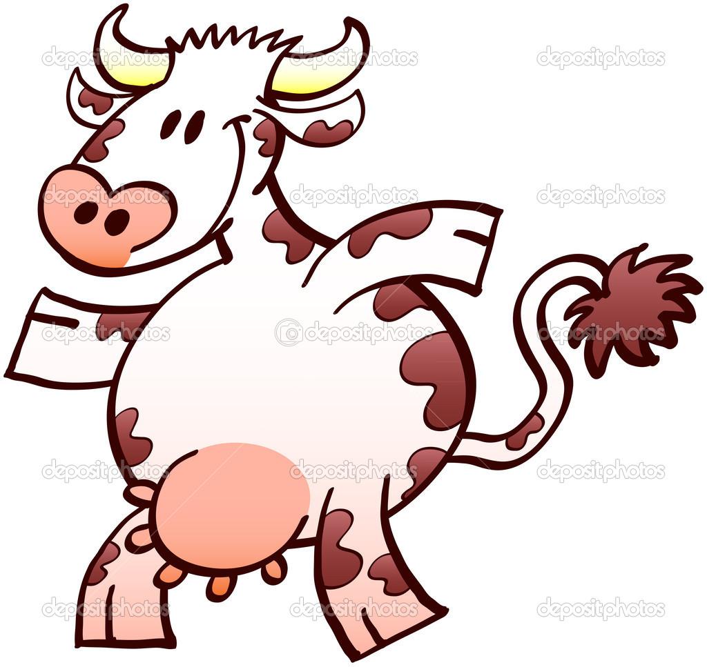 хорошая эрекция корова — Векторное изображение © zoo-co #46033579