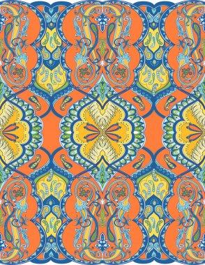 Eastern paisley pattern
