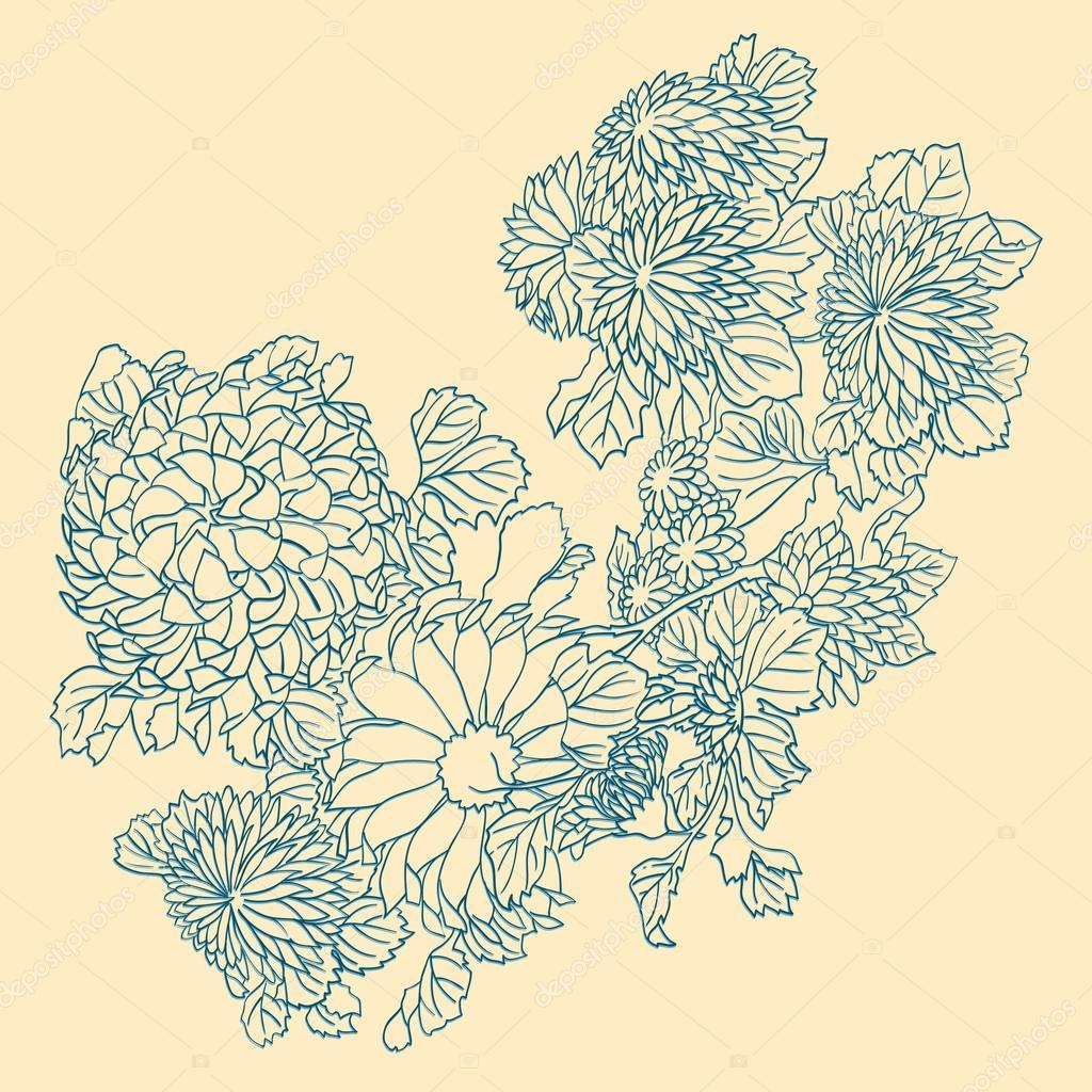 Цветок на японском