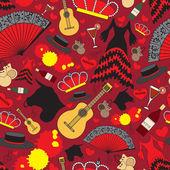 Vzorek se symboly Španělska pro použití v designu