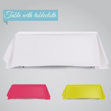Table with table cloth