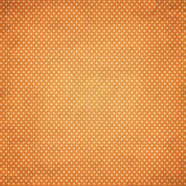 Orange doted pattern background