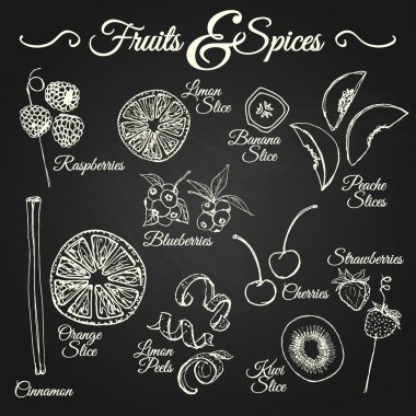 FRUITS & SPICES chalkboard