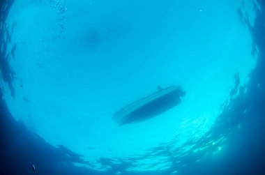 Boat from underwater