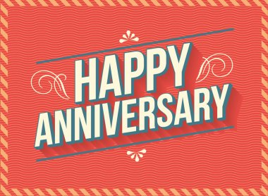 Happy anniversary greeting template