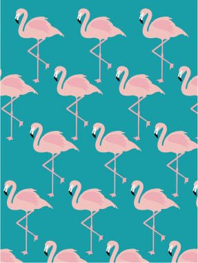 Vintage seamless flamingo