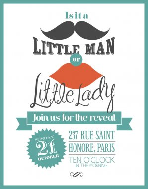 Reveal the gender baby shower invitation