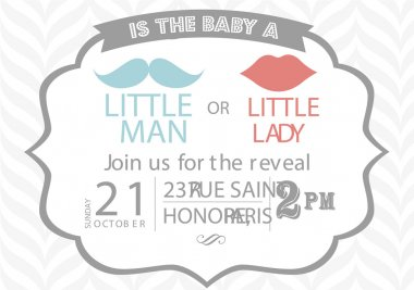 Gender baby shower invitation template