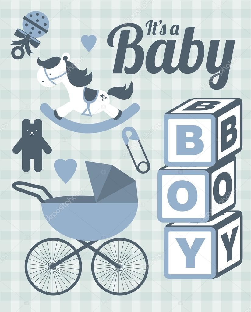 it s a baby boy template stock vector nglyeyee 44896521