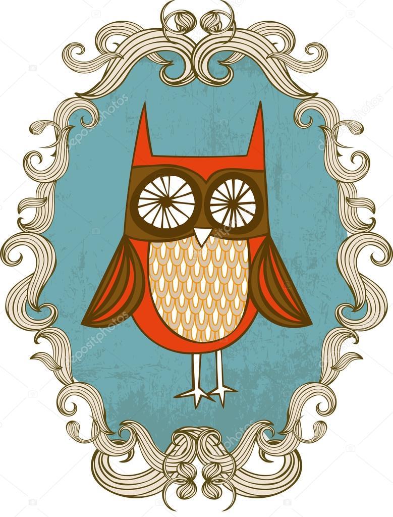 Owl frame — Stock Vector © nglyeyee #44897325