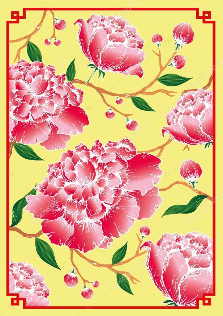 牡丹の花 ストックベクター Nglyeyee 44897519