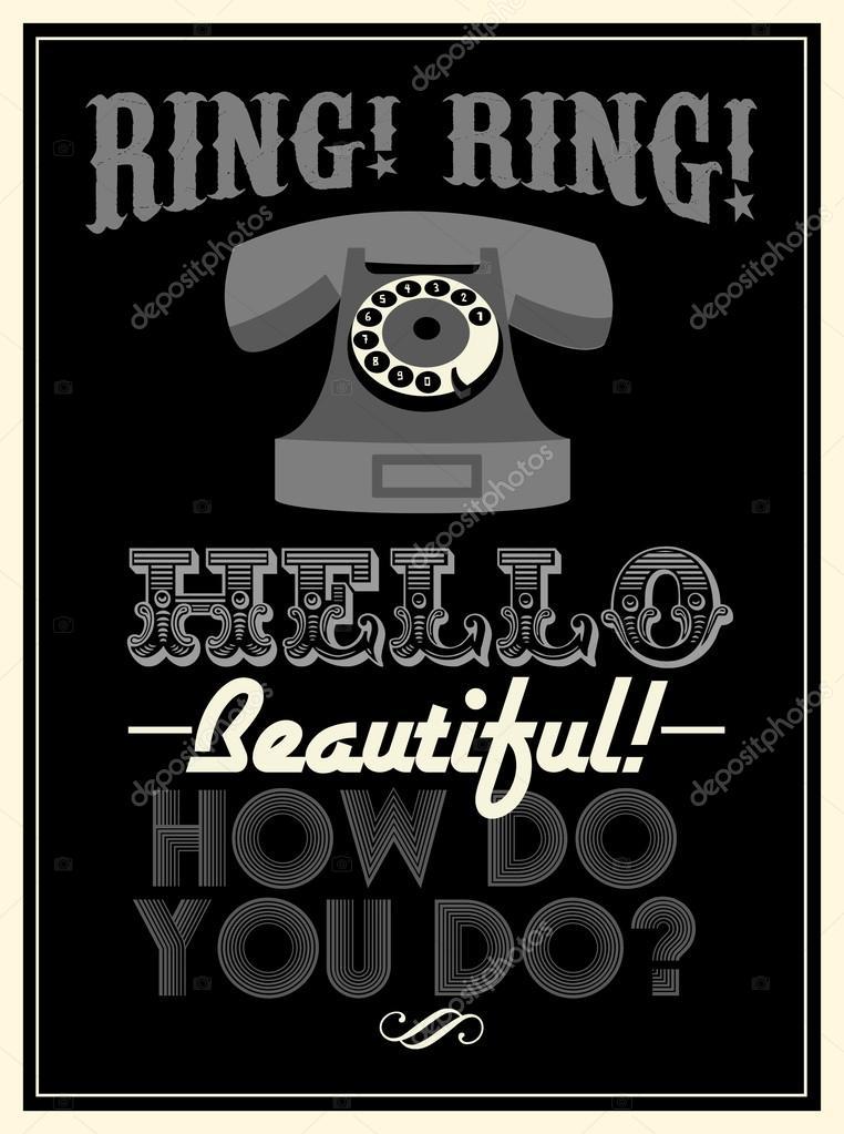 Retro telephone poster — Stock Vector © nglyeyee #44898009