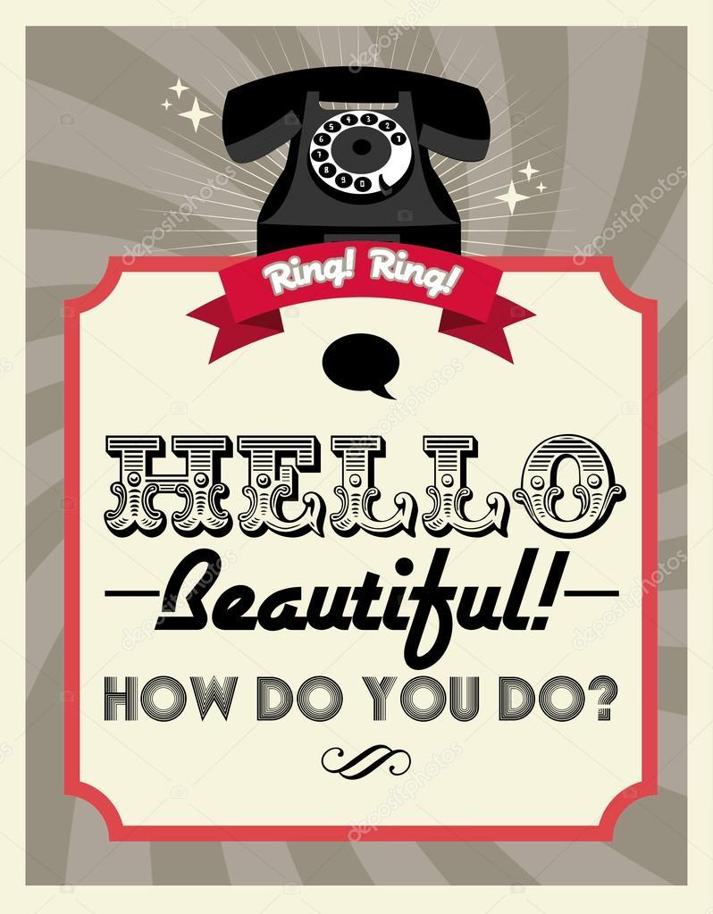 Retro telephone poster — Stock Vector © nglyeyee #44898045