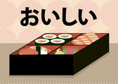 Japonský bento lunchbox