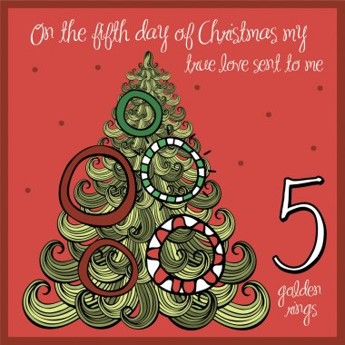 Fifth day - five golden rings