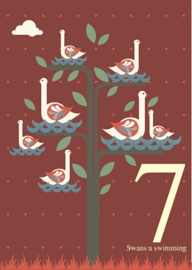 Seventh day of Christmas - Seven swans a swimming